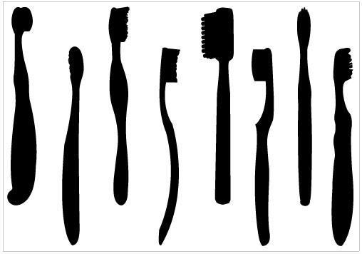toothbrush clipart black and white - photo #47