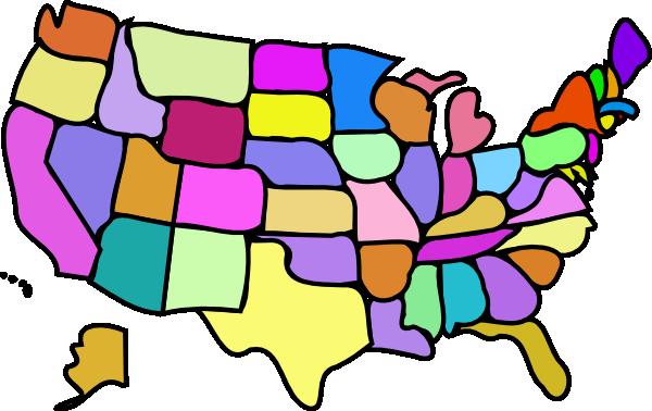 Usa Map Clip Art Clipartsco - Usa map outline clipart