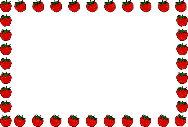 Strawberry Borders - Cliparts.co