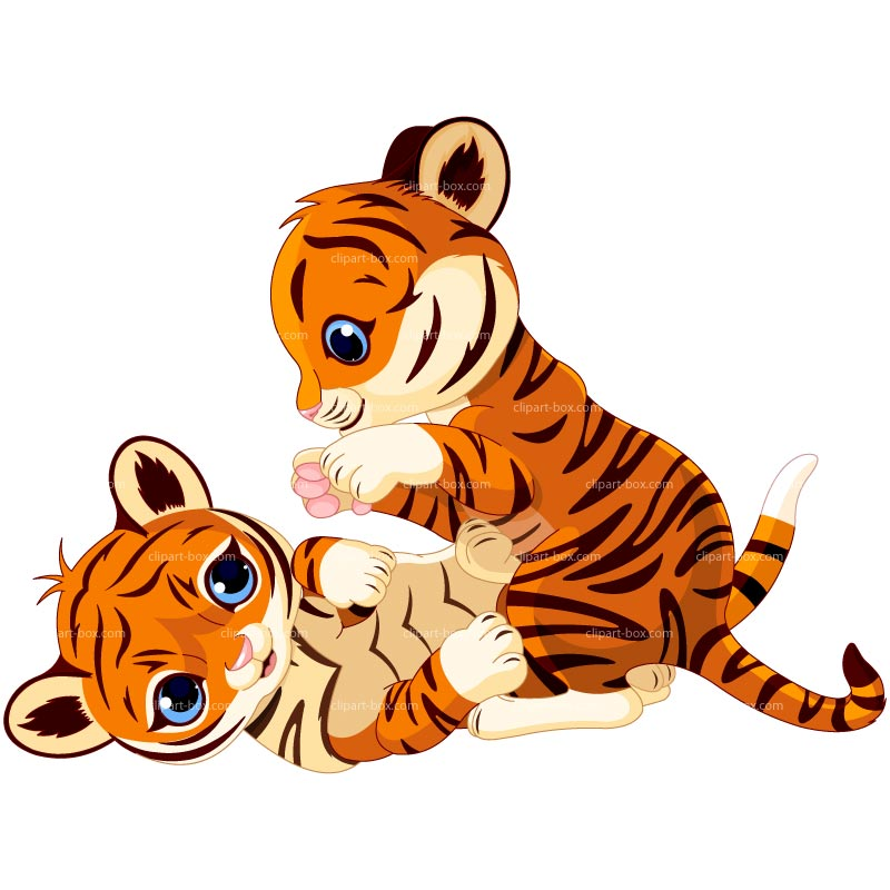 Cartoon Baby Tiger Drawingcli Cute Clipart - Free Clip Art Images