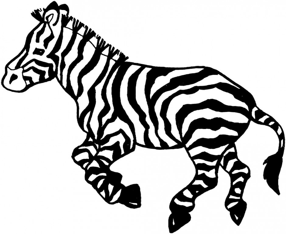 Zebra Head Outline Zebra Black 227916