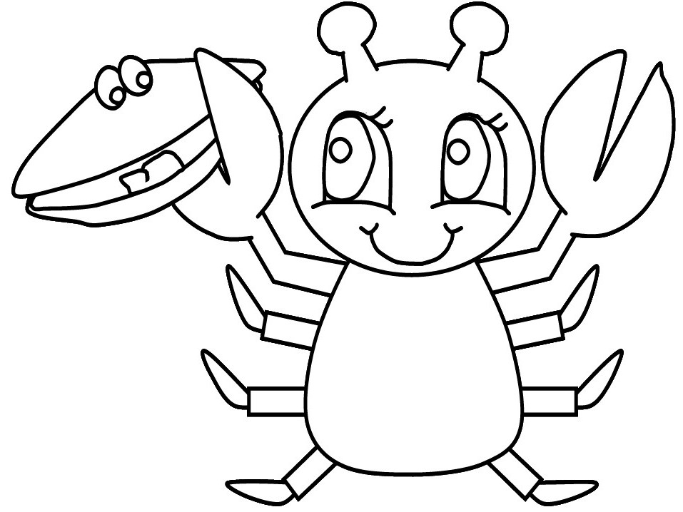 Lobster coloring 11 free coloring page site for Free coloring page site