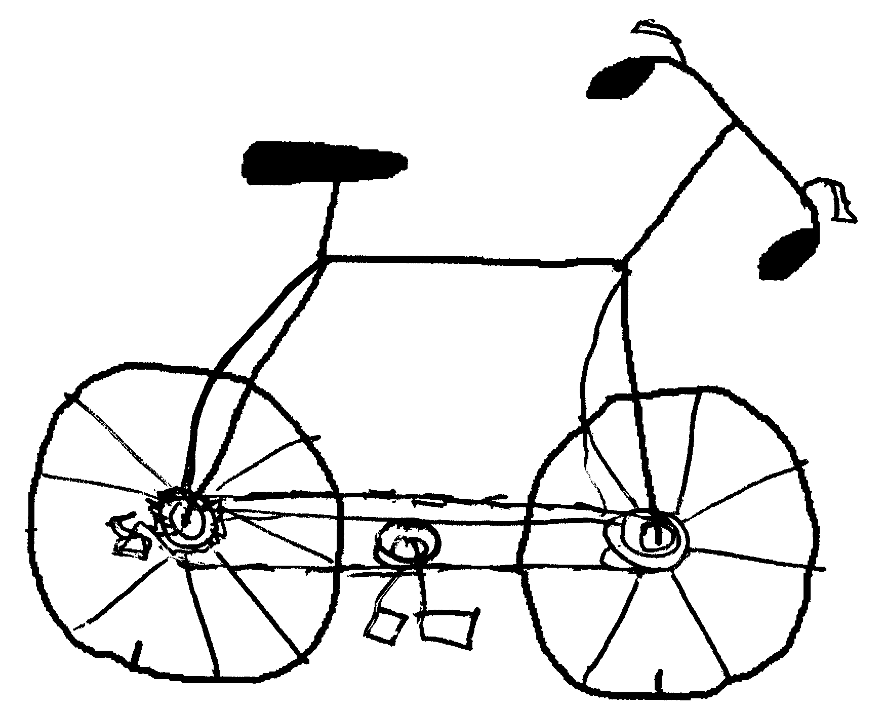 Line Drawing Bicycle : How to draw a bike for kids cliparts