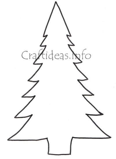 Decorate a christmas tree coloring page - Stencil Of A Tree Outline Cliparts Co