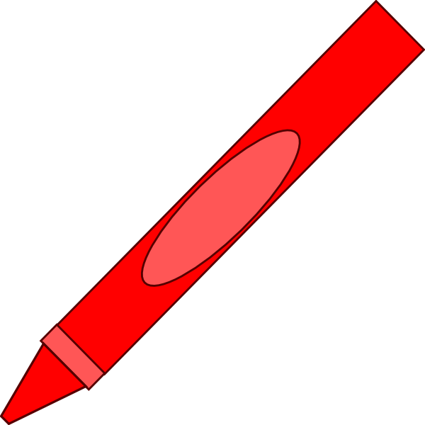 red crayon cliparts co color red crayon clipart Brown Crayon Clip Art
