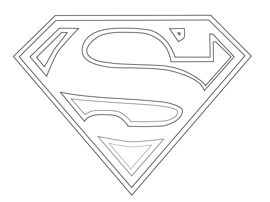 superman logo coloring page printable decimamas