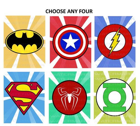 Superhero Logos Free Printables Clipart - Free Clipart