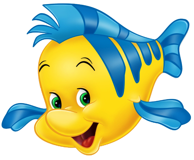 Flounder clipart for The little mermaid fish