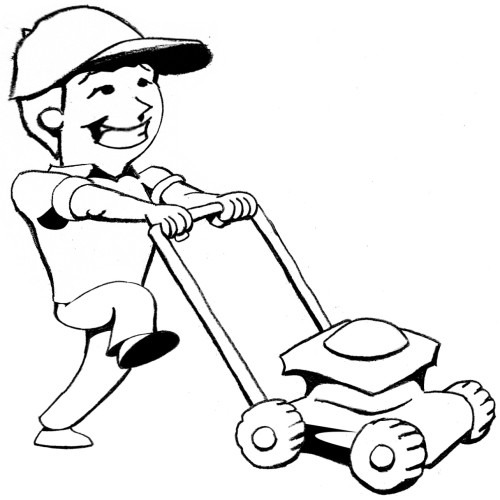 Lawn Mowing Graphics Cliparts Co Care Coloring Page