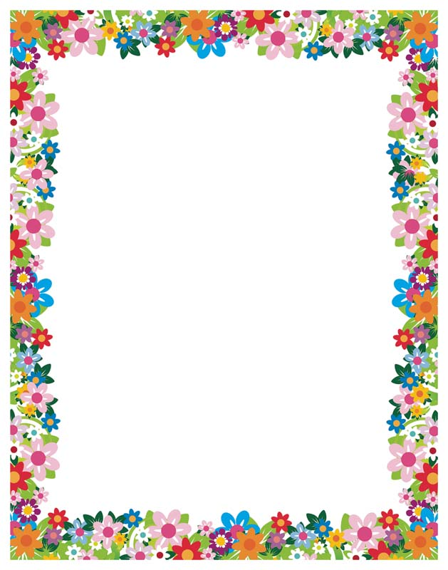 simple flower border designs for a4 paper clipartsco