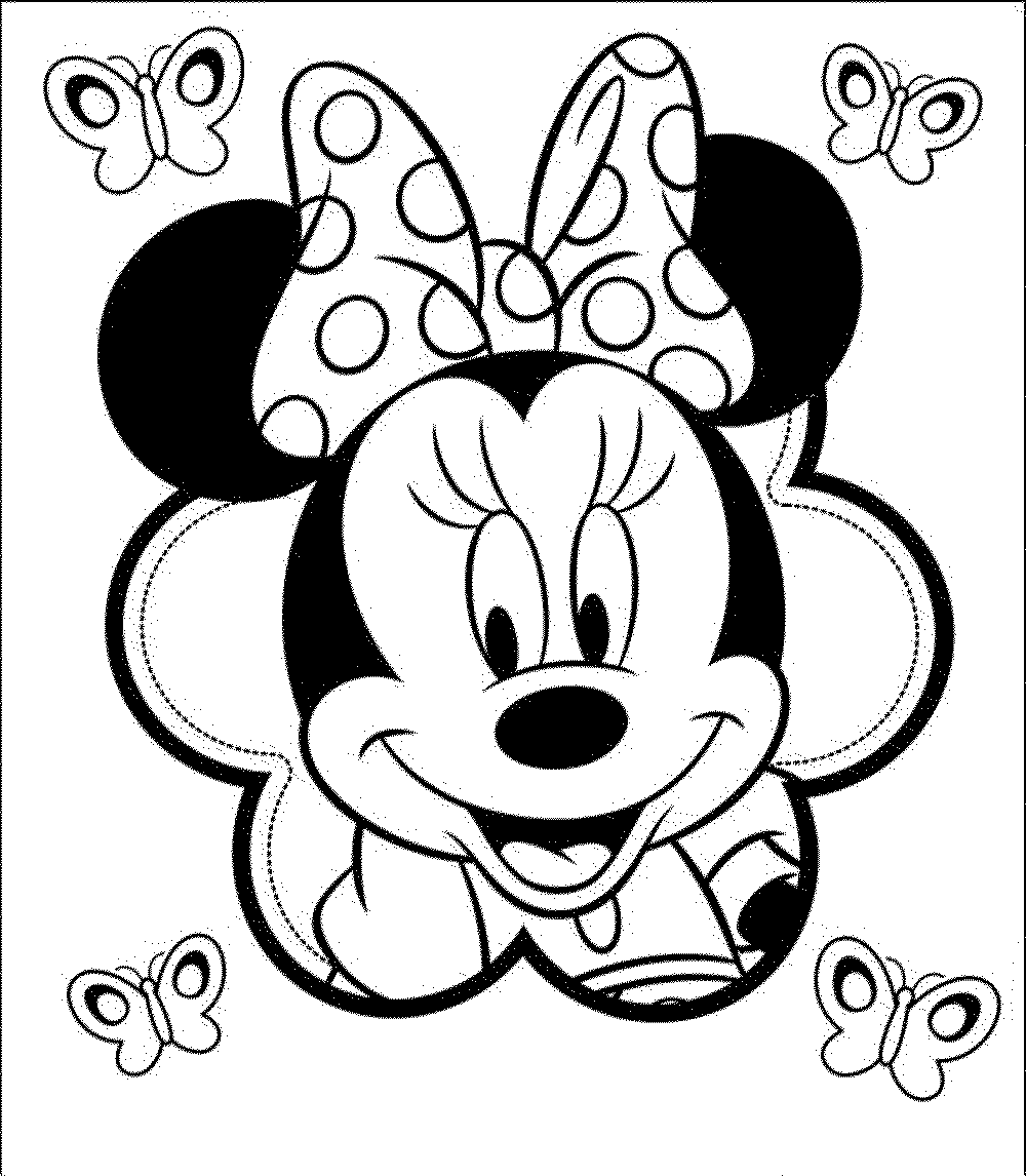 minnie mouse face coloring pages image source - Free Minnie Mouse Coloring Pages