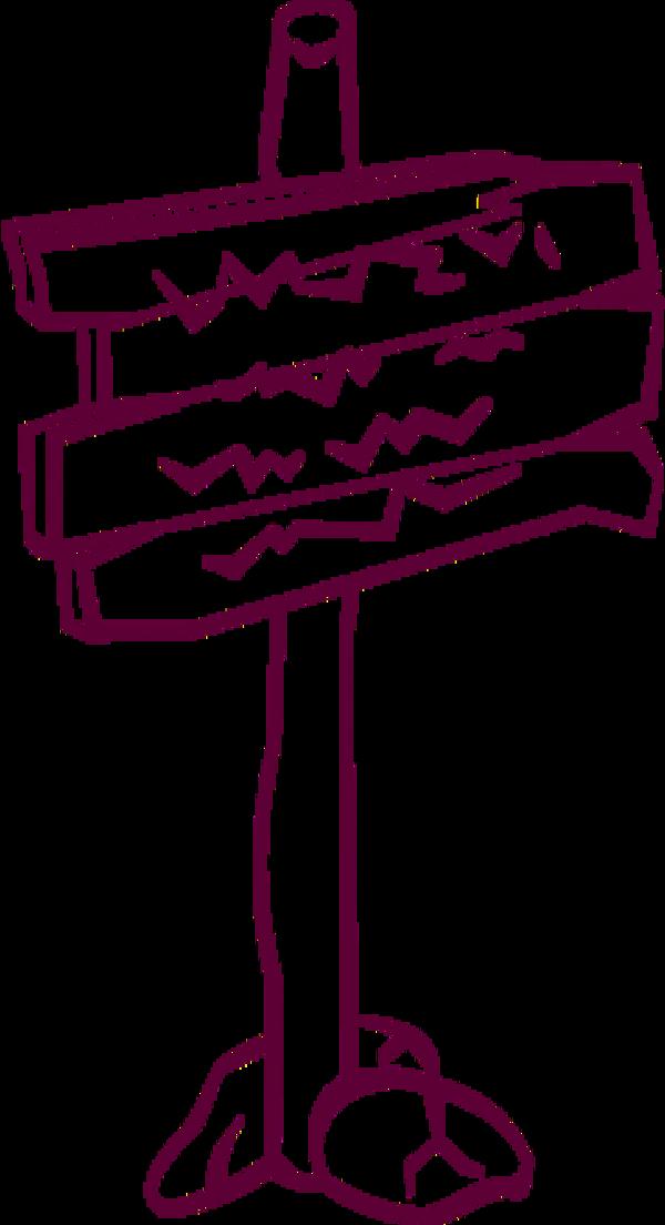 Wooden Post Sign Vector Clip Art Clipartsco