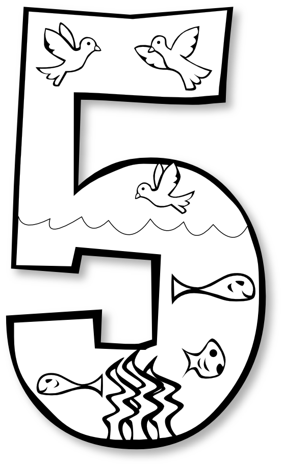 creation day number ge hunky dory SVG colouringbook.