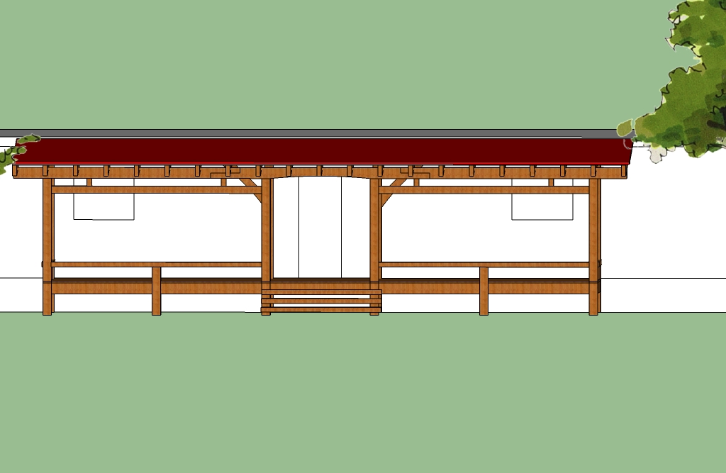 Timber frame porches entries additions homes and for Timber frame porch addition