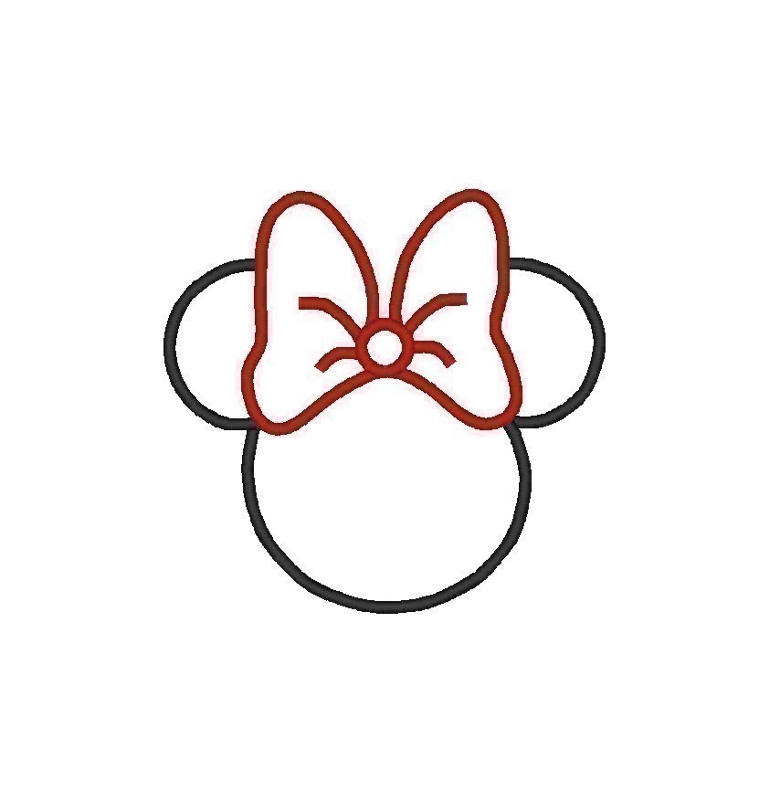 Free Minnie Mouse Bow Template - Cliparts.co