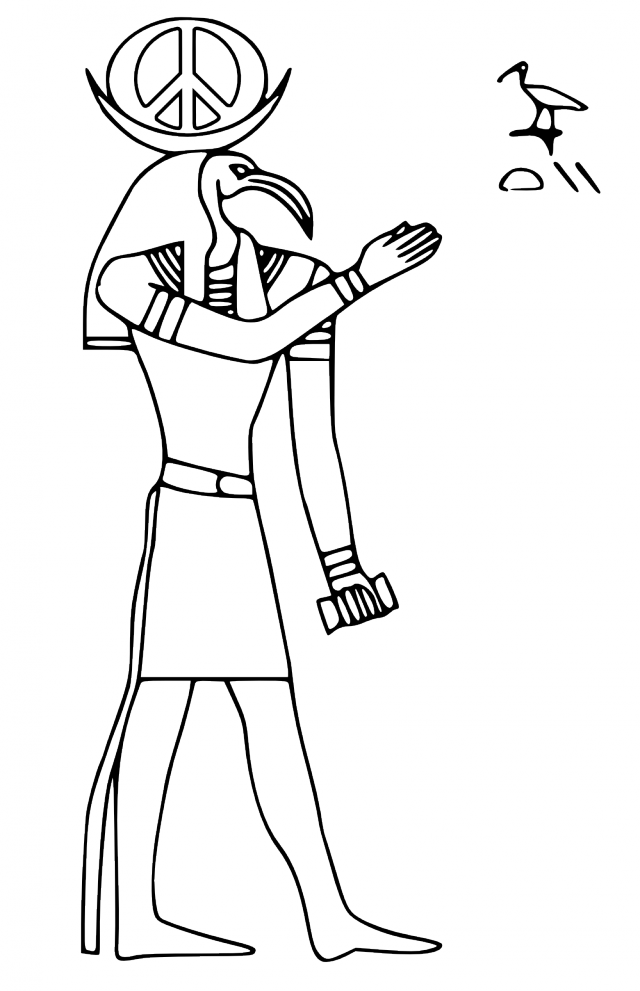 ArtStation - Egyptian Gods Coloring Pages // Ra and Set, Ven ... | 991x640