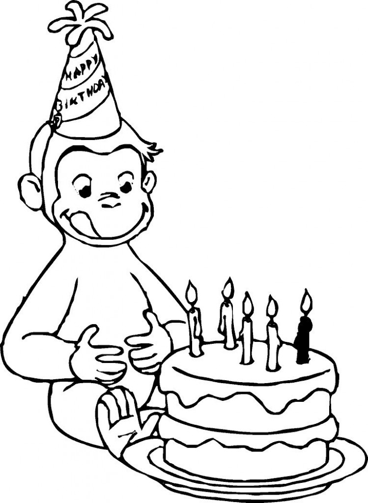 free curious george coloring pages - curious george clip art