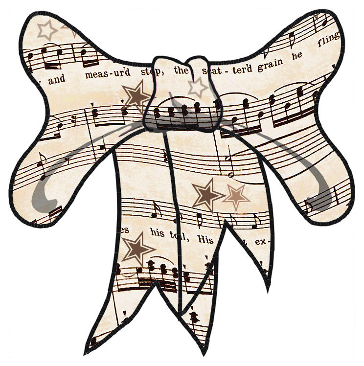 ArtbyJean - Vintage Sheet Music: Lots of ribbon bows trimmed with ...