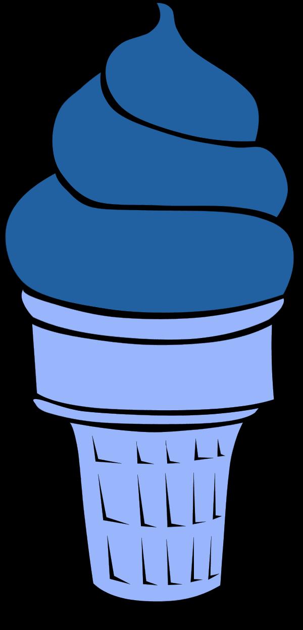 Ice Cream Cone Chocolate - vector Clip Art
