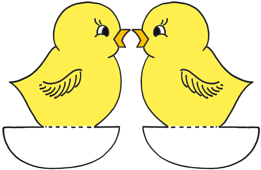 Easter Chick Template | quotes.