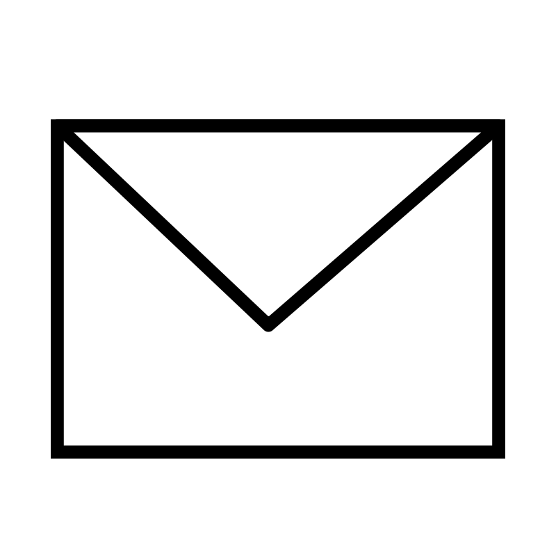 Clipart - Envelope Closed B&W