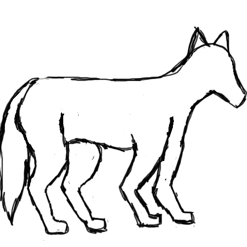 Wolf Outline Drawing - Cliparts.co