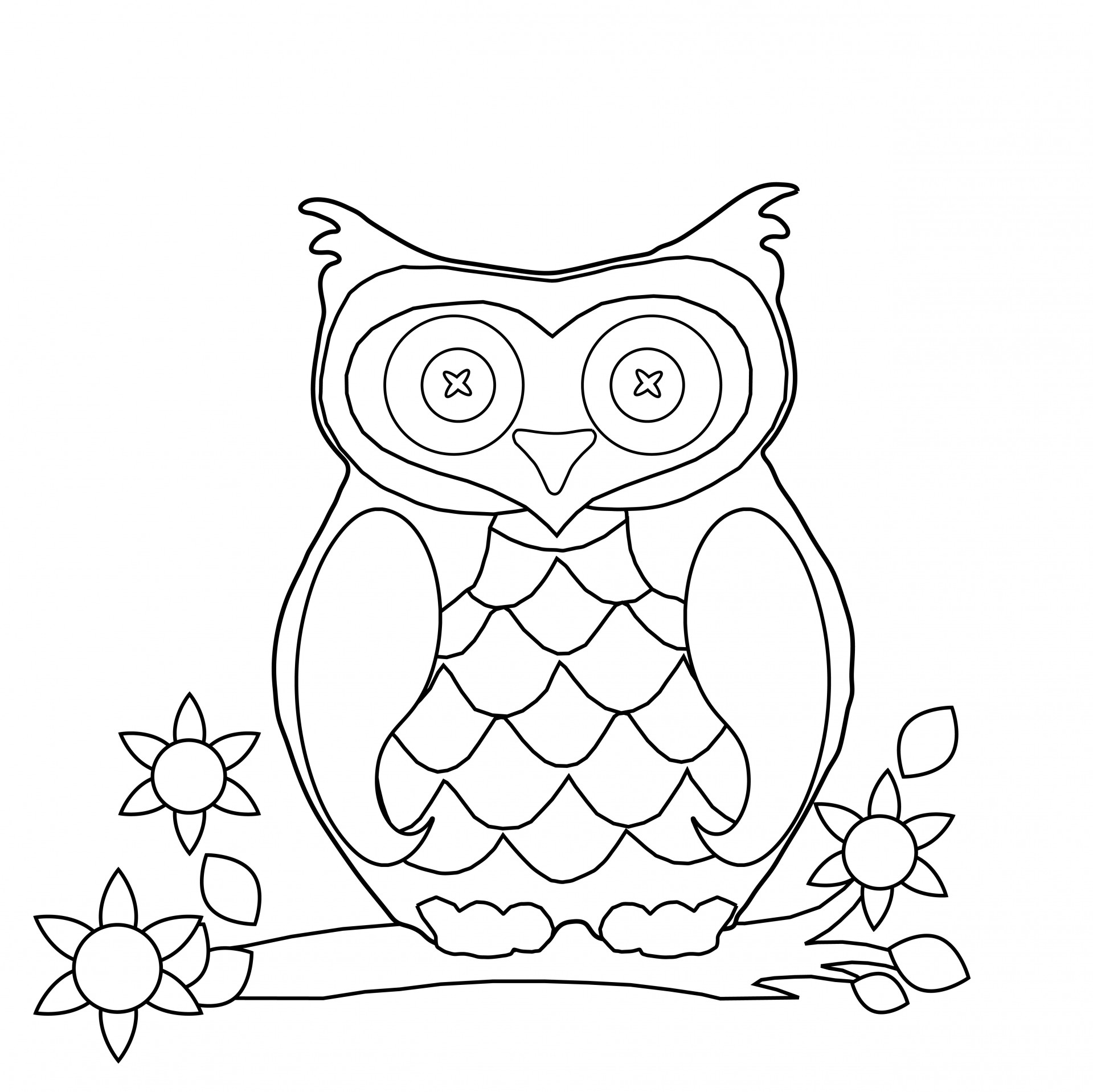 printable cute owl coloring pages coloring pages ideas - Cute Owl Coloring Pages Girls
