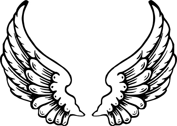 Hearts with wings coloring pages for Hearts and crosses coloring pages