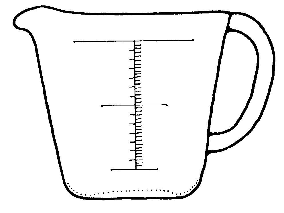 free measuring cup coloring pages - photo#4