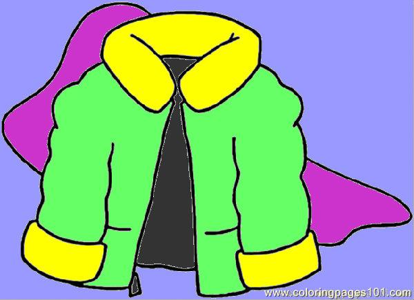 Coloring Pages Winter Coat (Entertainment > Clothing) - free ...