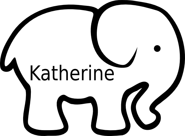 Lucrative image within printable elephant stencil