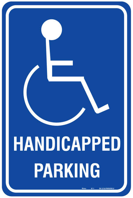 Nifty image with regard to printable handicap signs