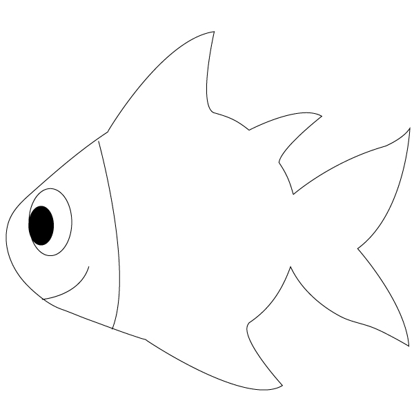 Simple Fish Line Art : Outline drawings of fish cliparts