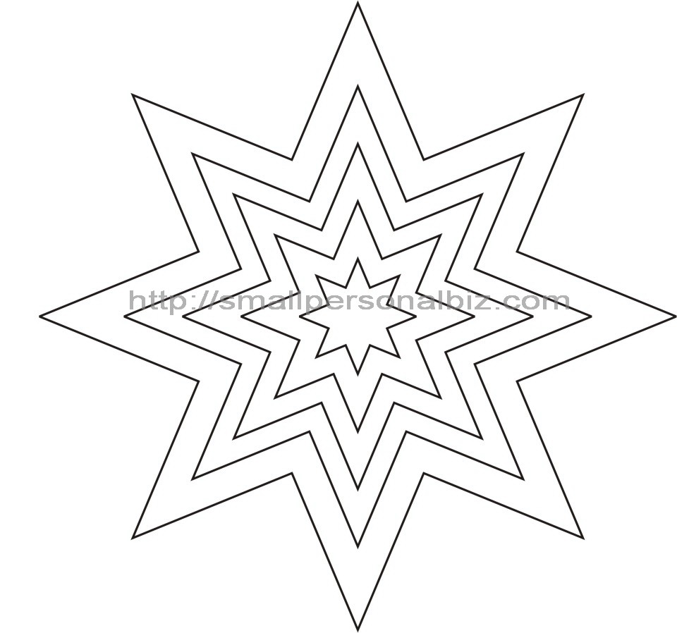 Free 8 Shaped Point Star Template Printable for Gift Box ...