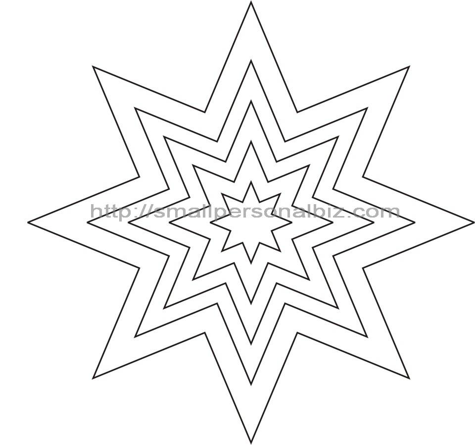 картинки звездочки трафарет