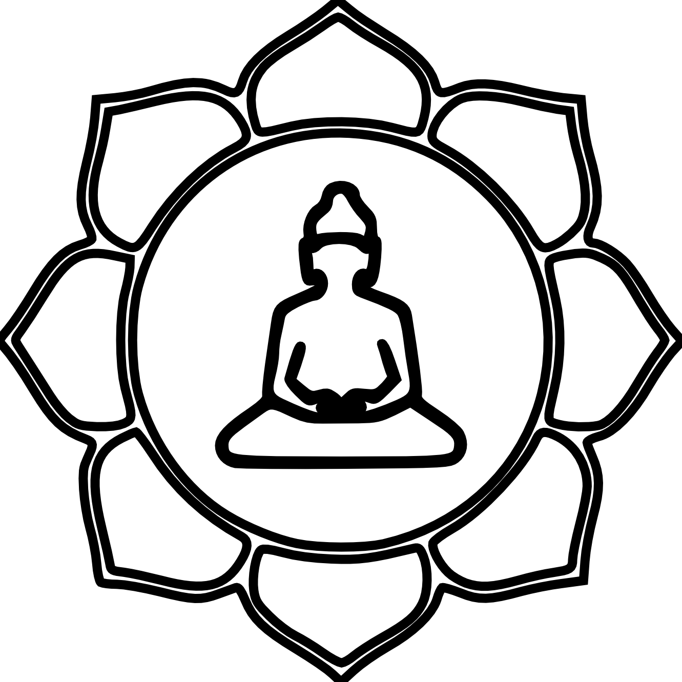 Zen Line Drawing : Simple buddha drawing cliparts