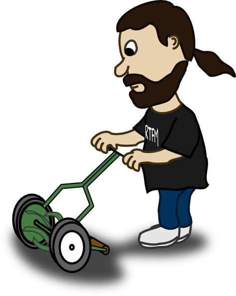 free cartoon lawn mower clipart - photo #4