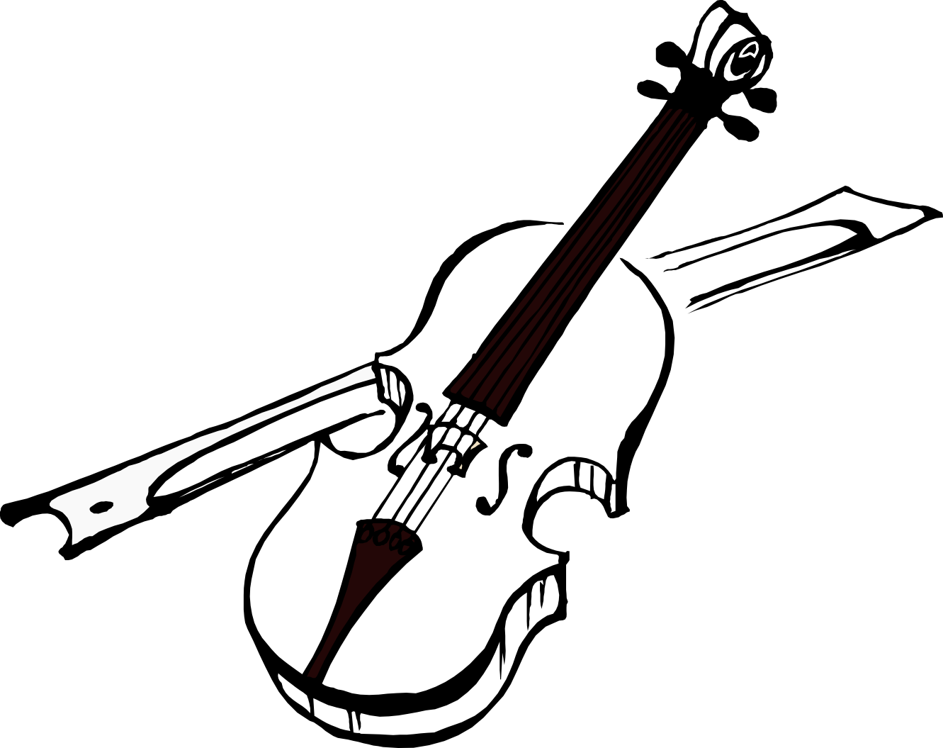 Cello Clipart Black And White | Clipart Panda - Free Clipart Images