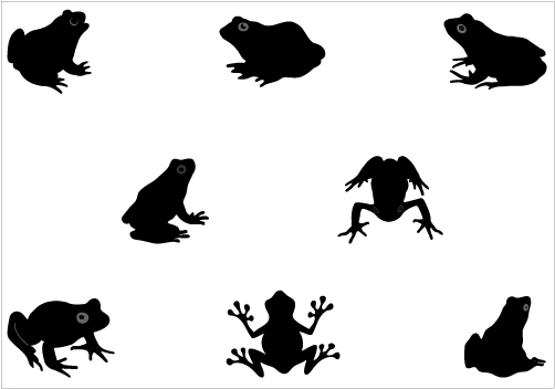 Frog Silhouette Vector Graphics PackSilhouette Clip Art
