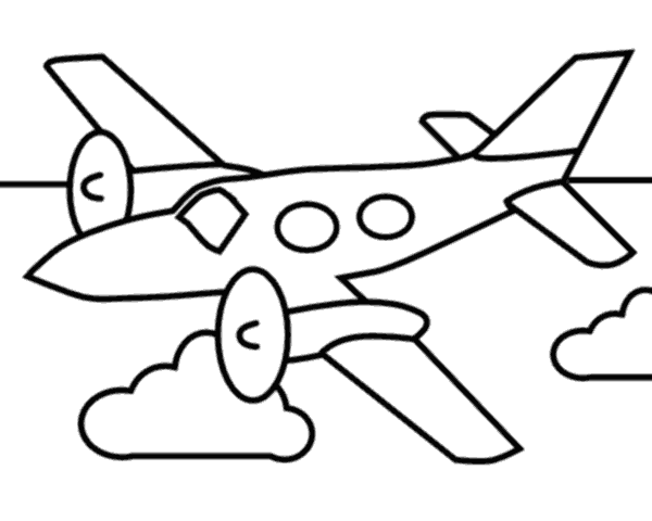 Airplane Outline - Cliparts.co