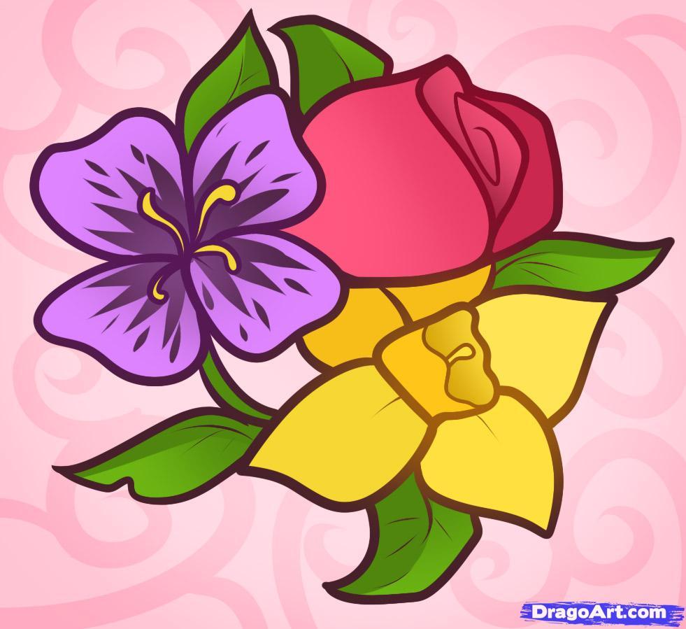 Как нарисовать разные цветы