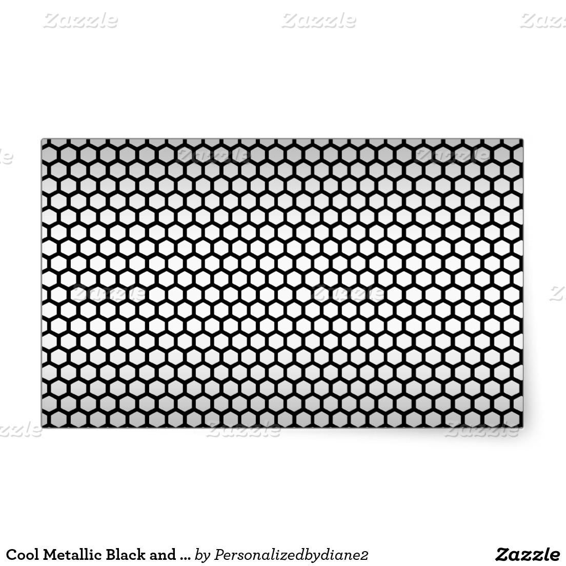 Cool Metallic Black and Silver Design.png Rectangular Sticker | Zazzle