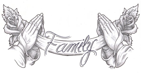 Тату my family is my fortress