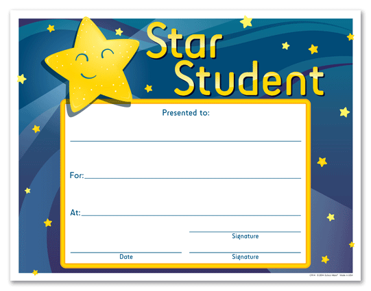 student of the week certificate template free - hole in one certificate template