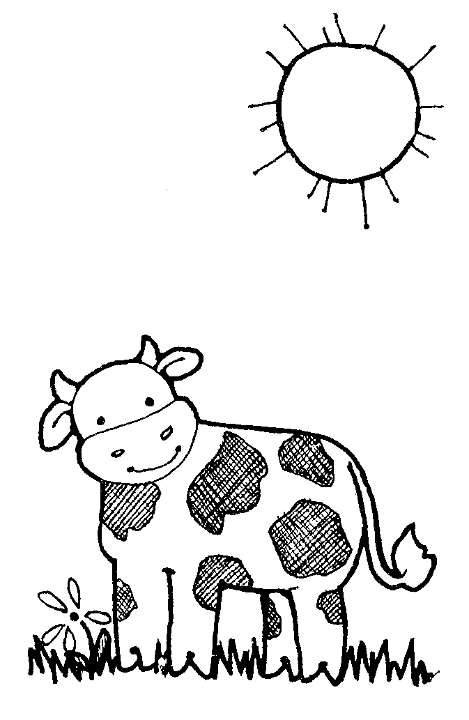 cow clipart simple - photo #31