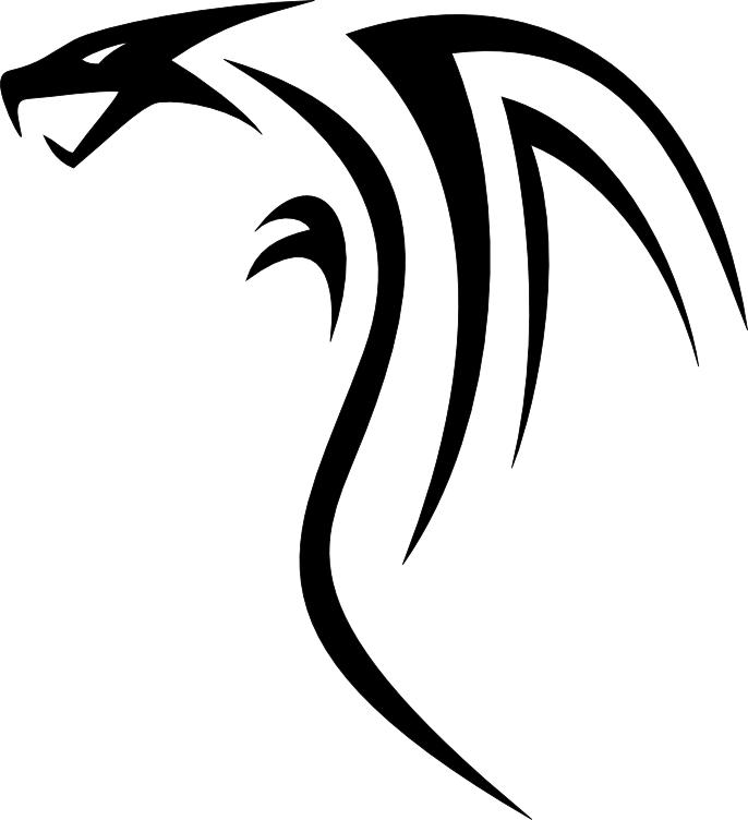 Cool Tribal Dragon Tattoo Design By Dragon Tribal  Tribal Art Dragon Simple