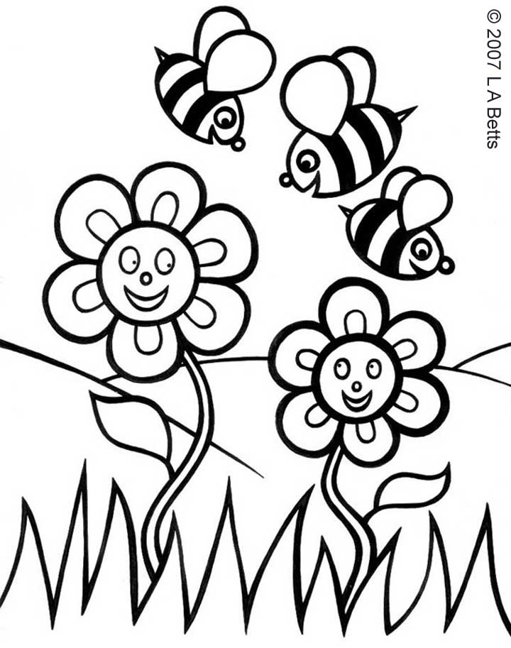 Drawings of spring flowers for Easy spring pictures to draw