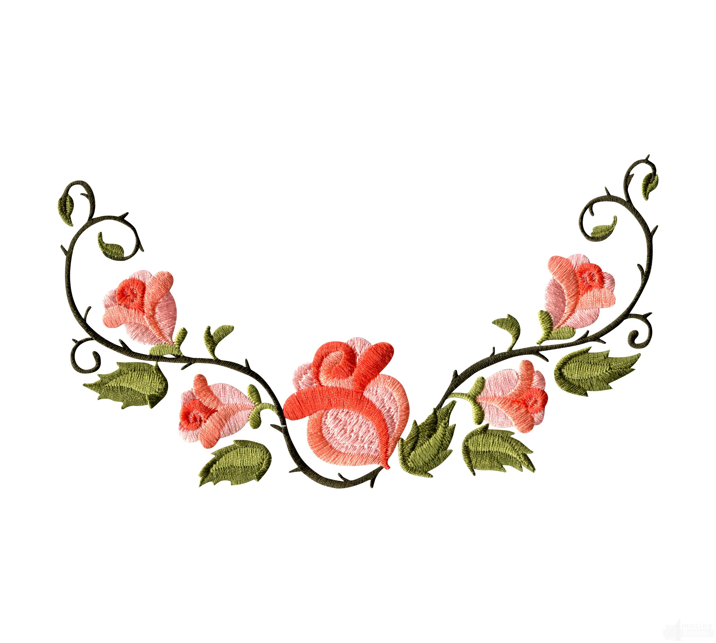 Rose Flower Borders Cliparts