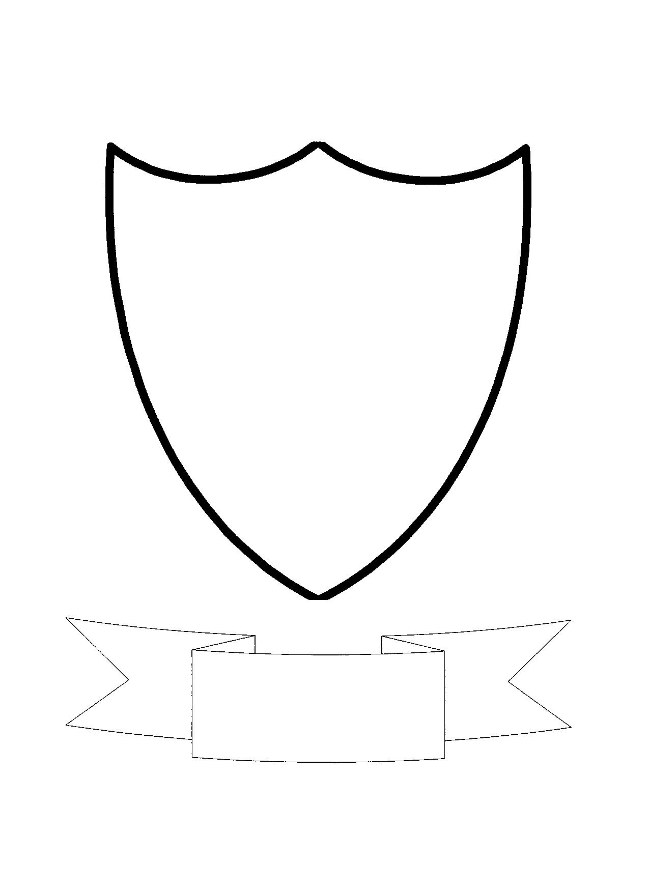 Tactueux image with coat of arms template printable free