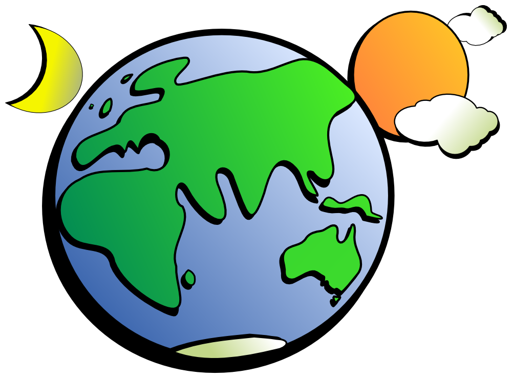 OnlineLabels Clip Art - Aussie Earth